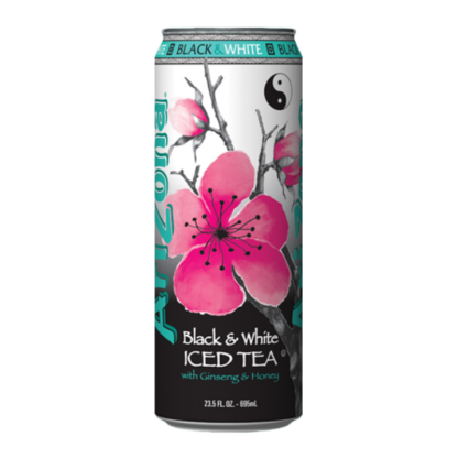 Arizona  Black & White Iced Tea w/ Ginseng & Honey